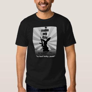 Make My Day - Bad-Ass Bunny and Rifle Rabbit Shirt