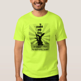 Make My Day - Bad-Ass Bunny with Rifle T-Shirt