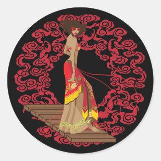 Make My Geisha Funky Round Sticker
