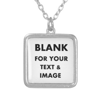 MAKE MY OWN PERSONALIZED PHOTO GIFT Use Your Image Square Pendant Necklace