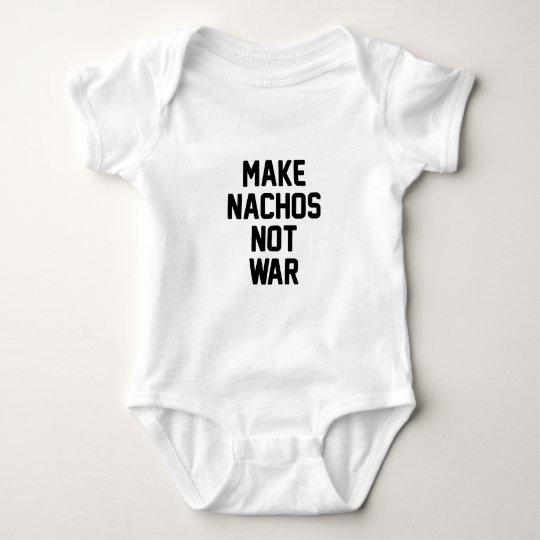 Make Nachos Not War Baby Bodysuit