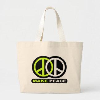 Make PEACE new Peace symbol Tote Bags