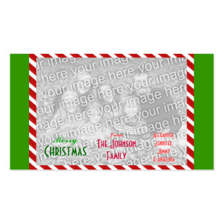 Make personal Merry Christmas Family Photo Double-Sided Standard Business Cards (Pack Of 100)