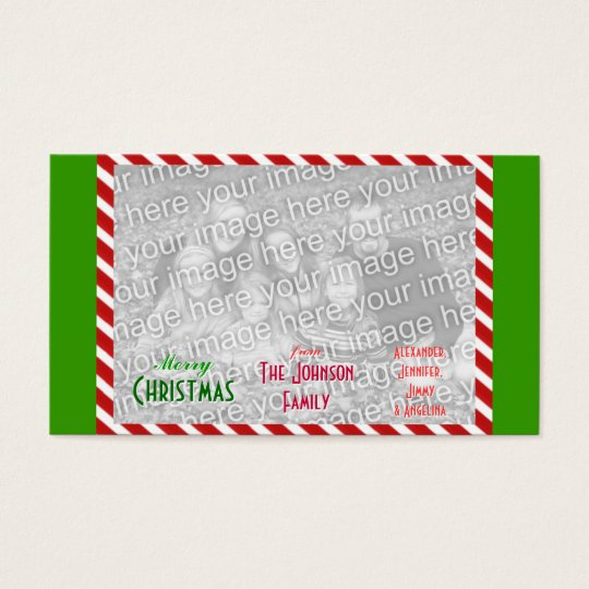 Make personal Merry Christmas Family Photo Business Card