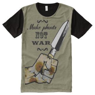 Make Plants,Not War ! Peacfull t-shirt All-Over Print T-Shirt