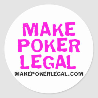 Make Poker Legal Pink Sticker