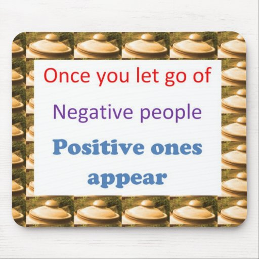 Make Positive Thoughts - let go off negativity Mouse Pad