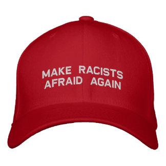 make racists afraid again embroidered baseball cap