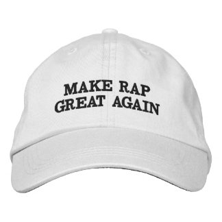 Make Rap Great Again with this trendy hat! Embroidered Hat