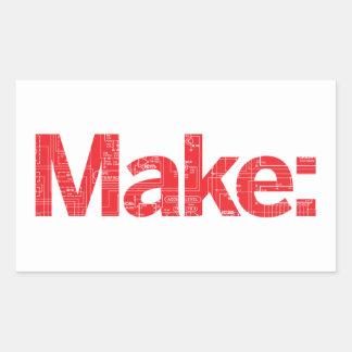 Make Rectangular Sticker