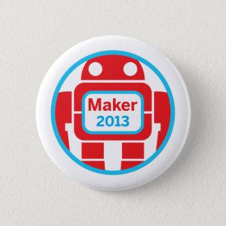 Make Robot 6 Cm Round Badge