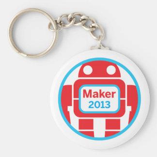 Make Robot Basic Round Button Key Ring