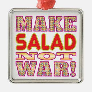 Make Salad v2 Silver-Colored Square Decoration