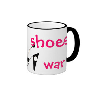 Make Shoes Not War humorous mug