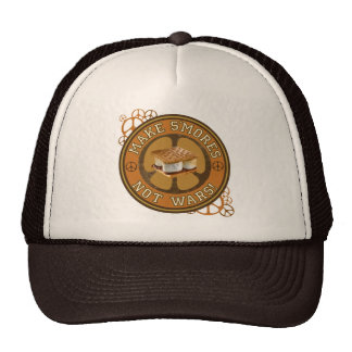 Make Smores Not Wars Cap Mesh Hat
