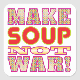 Make Soup v2 Square Stickers