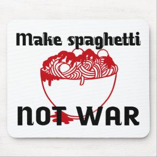 MAKE SPAGHETTI NOT WAR, FUNNY MOUSEPAD