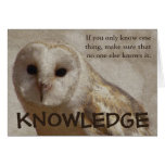 Make sure that only you have the knowledge card