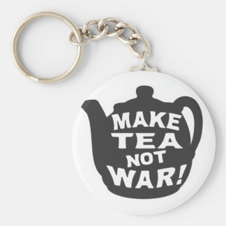 Make Tea Not War! Key Ring