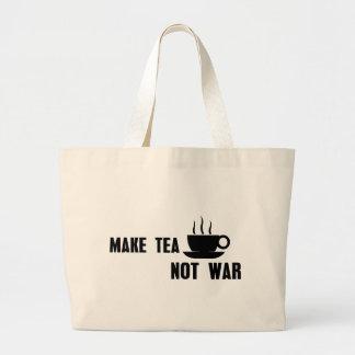 Make Tea Not War Large Tote Bag