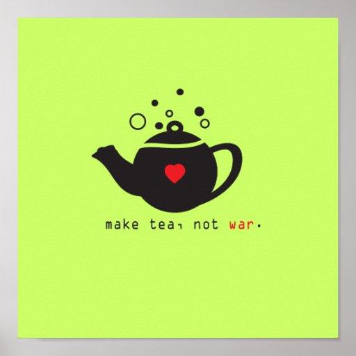 make tea not war print [custom]