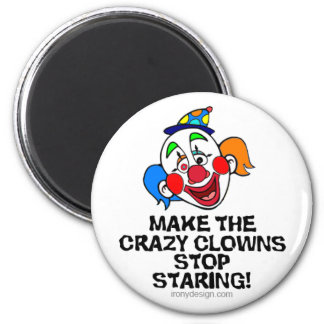 Make the Crazy Clowns 6 Cm Round Magnet