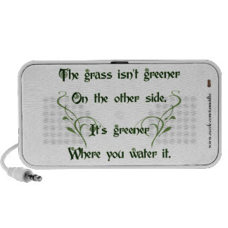Make the Grass Greener Portable Speaker