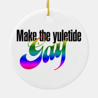 Make the yuletide GAY Christmas Ornament