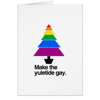 MAKE THE YULETIDE GAY -.png Cards