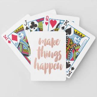 Make Things Happen Bicycle Playing Cards