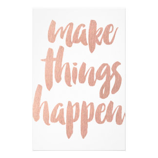 Make Things Happen Personalised Stationery