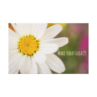 Make today great colourful daisy canvas wall art