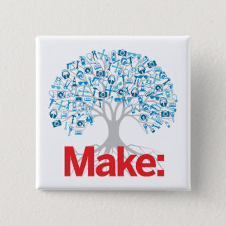 Make Tree 15 Cm Square Badge