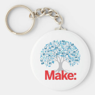 Make Tree Basic Round Button Key Ring