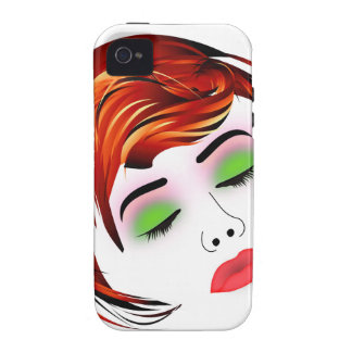 Make up and hair graphic- Lady with a pout Vibe iPhone 4 Case