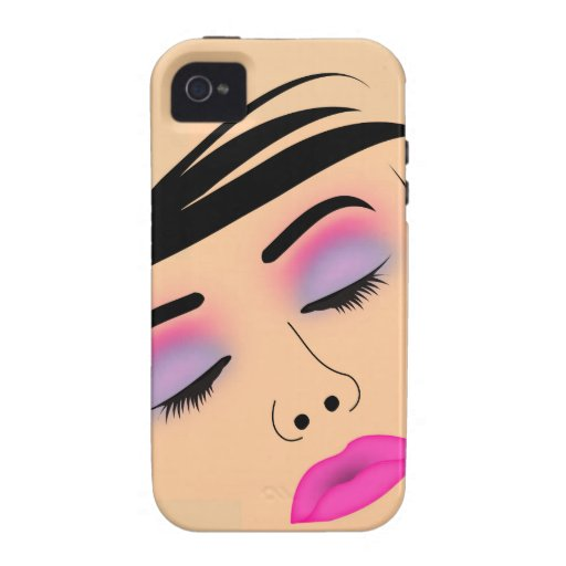 Make up and hairstyle vibe iPhone 4 cover