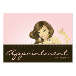 Make up Artist Appointment Card Pretty Pink Woman Business Cards