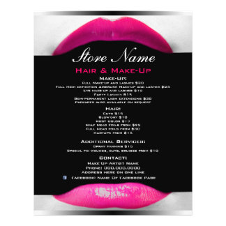 Make-Up Artist Beauty Salon List Of Services Flyer