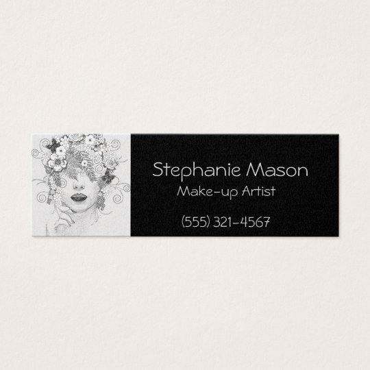 Make-up Artist Black Business card