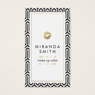 Make Up Artist Business Card - Chic geometric