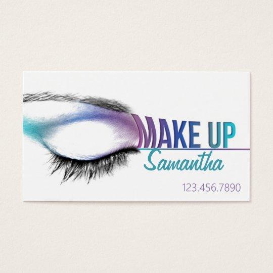 Make up artist business card Makeup artist