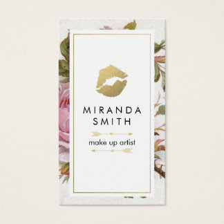 Make Up Artist Business Card - Pretty Roses