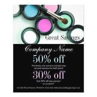 make up artist business promotional flyer