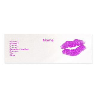 """Make-up Artist"" I Profile Card - Customizable Business Card Templates"
