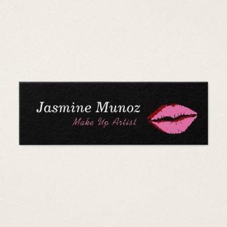 Make Up Artist LipStick Kiss Mini Business Card