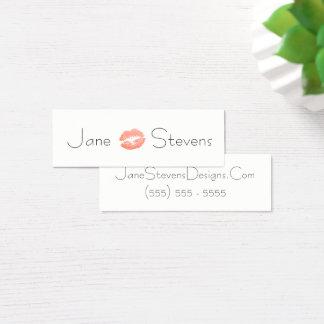 Make Up Artist Lipstick Kiss Minimalist Mini Business Card