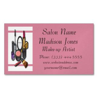 Make-up Artist Make-up Business Card Magnet Magnetic Business Cards (Pack Of 25)