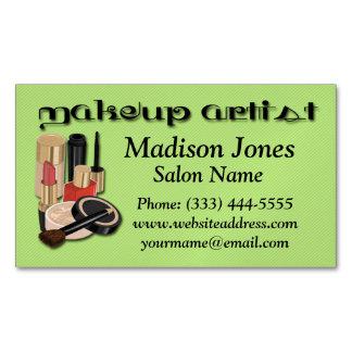 Make-up Artist, Make-up Business Card Magnet Magnetic Business Cards (Pack Of 25)