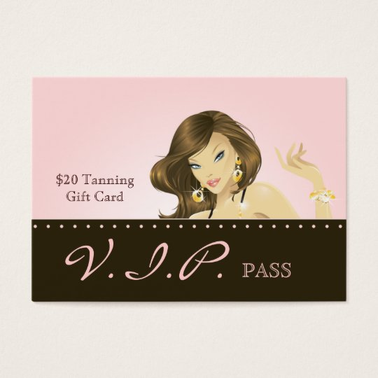 Make up Artist VIP Club Card Pretty Pink Woman