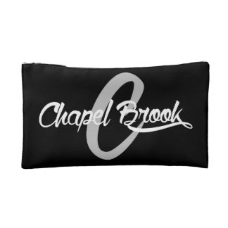 make up bag w/ b/w chapel brook logo makeup bags